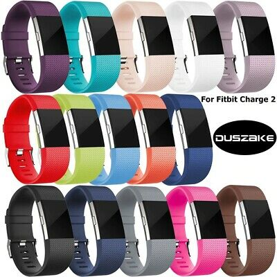 $ CDN3.44 • Buy For Fitbit Charge 2 Strap Sports Wrist Band Silicone Replacement Small Large Uk
