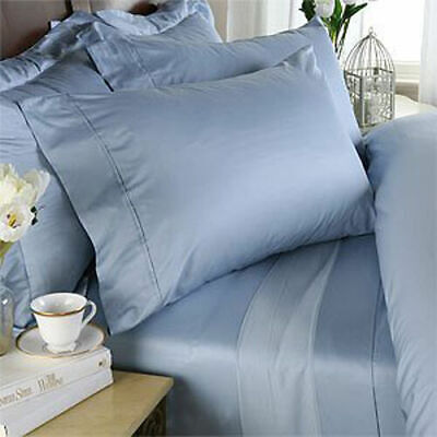 1000-800-600 TC 100%Egyptian Cotton Hotel Super Soft Sky Blue Bedding's In Solid • 66.98£