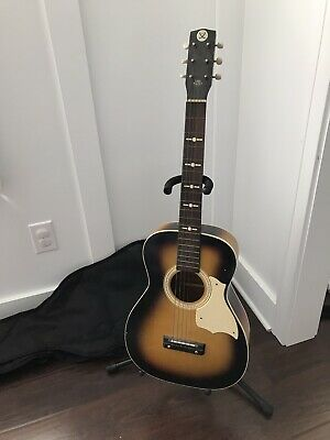 $ CDN251.93 • Buy Vintage Silvertone Model 319 Parlor Acoustic Guitar Tobacco Sunburst USA Made