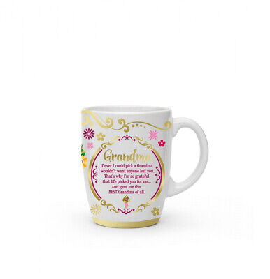 New Boxed Grandma Present Gift Fine China Mug Coffee Cup Free P+P • 9.99£
