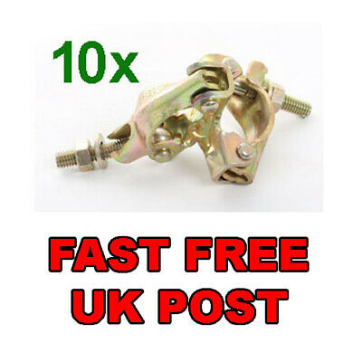 £39.99 • Buy 10 X NEW PRESSED Scaffolding Scaffold Fitting FIXED DOUBLE Coupler FREE DELIVERY