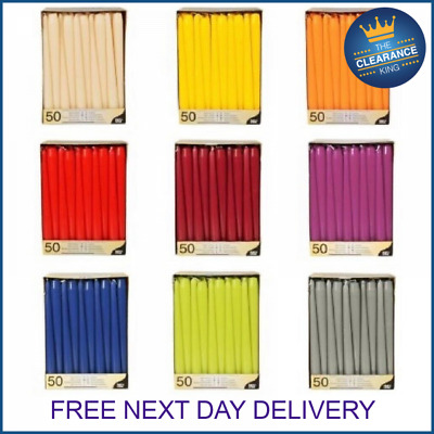 £2.99 • Buy Tapered Dinner Candles NON-DRIP Candles Home Party Church Bistro UK SELLER
