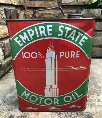 $ CDN184.55 • Buy Vtg Empire State Motor Oil 2 Gallon Oil Can Consumers Petroleum Indianapolis