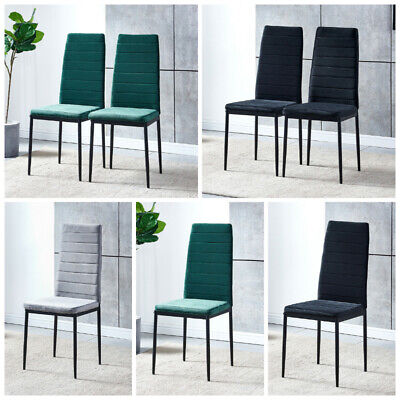 £122.99 • Buy 2/4/6x Velvet Dining Chairs Side Chair High Back Padded Seat Dining Room Kitchen