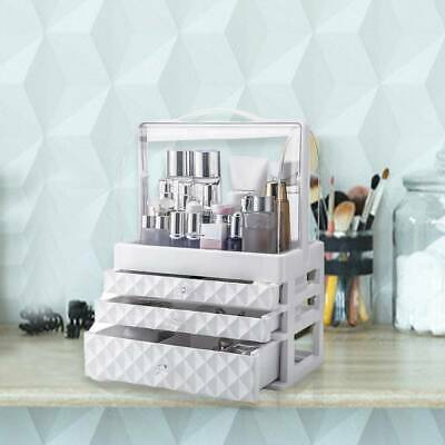 3 Tiers Cosmetic Organizer Box Makeup Case Holder Drawer Jewelry Display • 11.29£