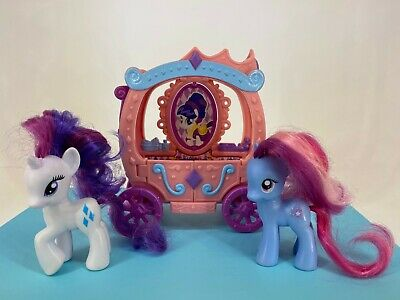My Little Pony G4 - 2011 - STAR SWIRL + RARITY With Carriage - VHTF • 70.79£