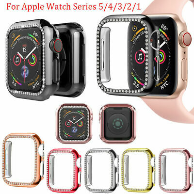 $ CDN6.82 • Buy Apple Watch Series 5 4 3 2 1 Bling Plastic Bumper IWatch Protector Case Cover