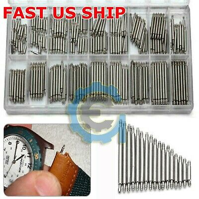 $ CDN7.40 • Buy 360pcs Watch PINS SPRING BARS Band Strap Link 8-25mm Repair Kit Stainless Steel