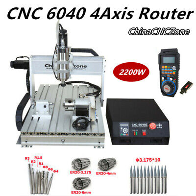 $1899.05 • Buy 2.2KW CNC 6040 4Axis Router Mach 3 USB Engraving DIY Cutting Milling Machine US