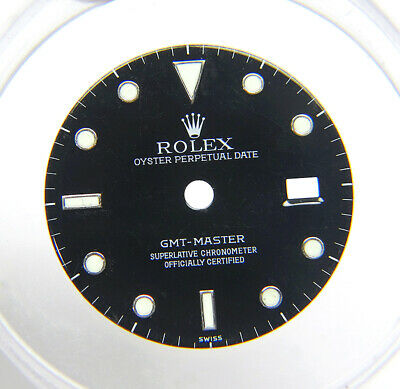 $ CDN586.53 • Buy Genuine Factory Rolex GMT-Master 16700 Glossy Black & Lume Watch Dial SWISS Only