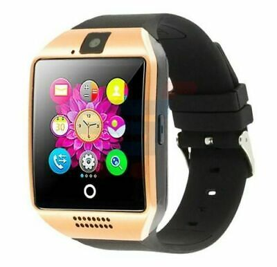 $ CDN35.82 • Buy Bluetooth Q18 Smart Watch For Android & IOS With Camera & SIM Slot UK Gold