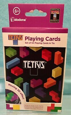 £6.08 • Buy Tetris 3D Lenticular Playing Cards With Tin - Paladone Collector Must Have! VHTF