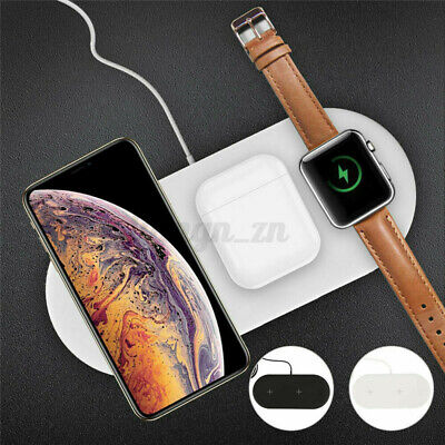 AU24.20 • Buy 3in1 Qi Wireless Charger Fast Charging Dock Stand For Airpods Apple Watch