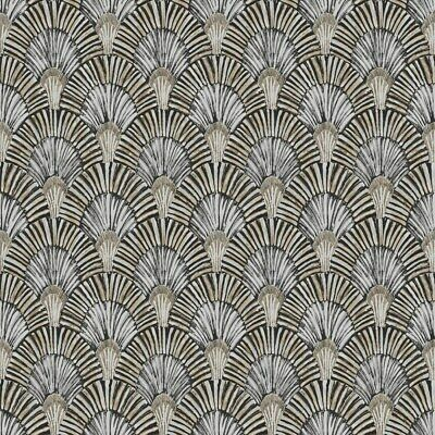 Grandeco Life Jungle Fever Deco Fan Wallpaper JF3003 - Peacock Feather Gold • 17.99£