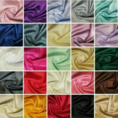 27 Colours Satin Backed Dupion Faux Silk Furnishing Bridal Dress Shantung Fabric • 7.99£