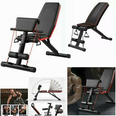 Foldable Incline Decline Multiuse Exercise Workout Bench Adjustable Weight Bench • 74.99£