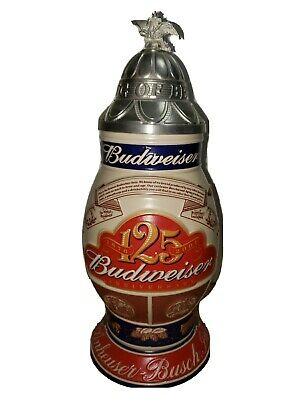 $ CDN26.65 • Buy Budweiser 125th Anniversary Lidded Stein Tradition Brewing Excellence CS496 2001