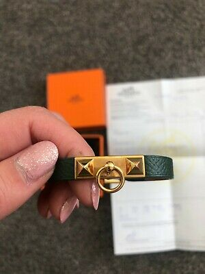 AU600 • Buy Hermes Micro Rivale Bracelet With Rose Gold Hardware In XS