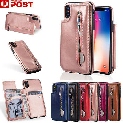 AU16.99 • Buy For IPhone XR XS 11 Pro Max X 8/7/SE Plus Case Leather Wallet Cards Flip Cover