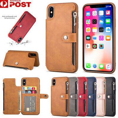 AU16.99 • Buy For IPhone XR XS 11 Pro Max X 8 7 SE Plus Case Leather Wallet Cards Zipper Cover