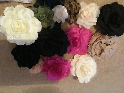 Vintage Flowers For Millinery,crafting, Haberdashery Sewing X12 • 12.99£