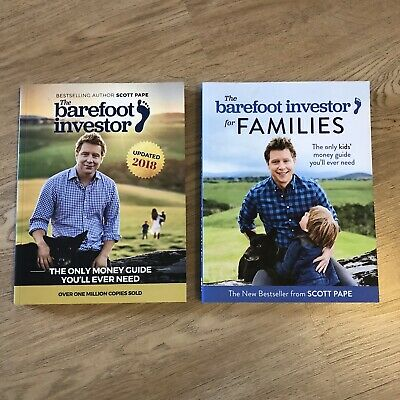 AU28 • Buy The Barefoot Investor & Families Books X 2 Bundle Lot Scott Pape Money Finance