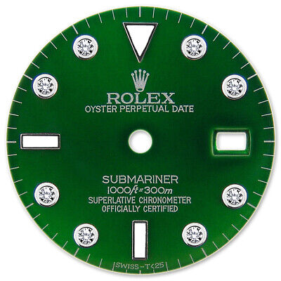 $ CDN335.14 • Buy Customized Submariner-40mm Ss Green 8 Round Diamond Dial For Rolex