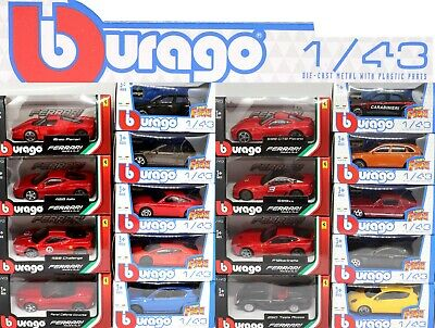 BBurago Various 1:43 Scale Diecast Children's Toy Car's New Gift CHOOSE YOUR CAR • 12.99£