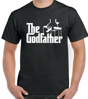 The Godfather T-Shirt Movie Mafia Christening God Father Funny Gift Present Tee • 7.99£
