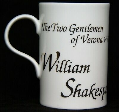 Vintage Past Times William Shakespeare Happiness Quotation Mug  • 5£