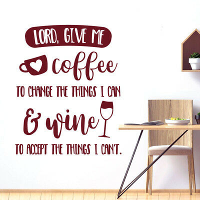 $40.46 • Buy Lord, Give Me Coffee & Wine - Kitchen Cafe Wall Sticker Quote