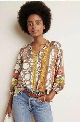 $ CDN105.70 • Buy NWT Anthropologie Vineet Bahl Lynnette Blouse Small #097