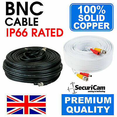 Bnc Dc Power Video Security Cctv Camera Dvr Extension Cable Data Lead Wire • 8.95£