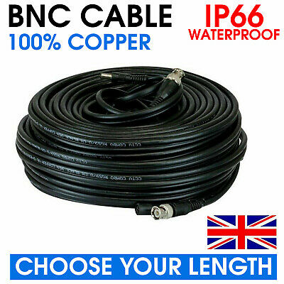 Bnc Dc Power Lead Video Security Camera Recorder Extension Cable Data Lead Wire • 4.25£