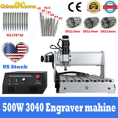 $798 • Buy 3040 CNC Routers 3Axis Milling Engraving Machine 500W USB Mach3 US Stock DIY