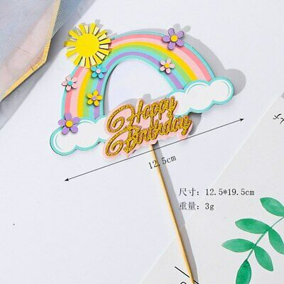 AU8.95 • Buy You Are My Sunshine Rainbow Cake Topper Decoration Unicorn First Birthday Party