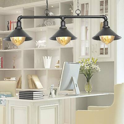 £29.19 • Buy 3 Way Industrial Retro Pendant Light Shade Suspended Ceiling Lights Style Lamp