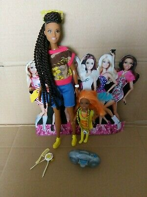 Barbie Fashionistas Plus Chelsea Back African American Ooak Dreadlocks • 17.99£