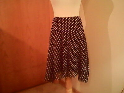 For Cynthia Women's Black Skirt With White Polka Dots, M, Polyester, Waist 30  • 3.58£