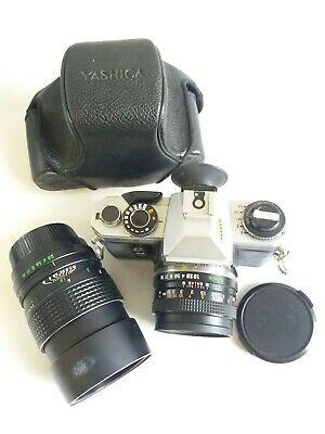 Yashica Fx-d Quartz With Two Lenses And Case • 120£