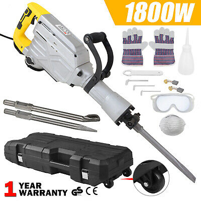View Details 1800W Electric Demolition Hammer Breaker Jack Drill Concrete Hammer Power Tool • 111.99£