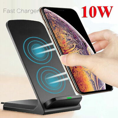 AU17.95 • Buy Qi Wireless Charger Fast Charging Dock For IPhone 11 XS XR X 8+ Samsung S10+ S20
