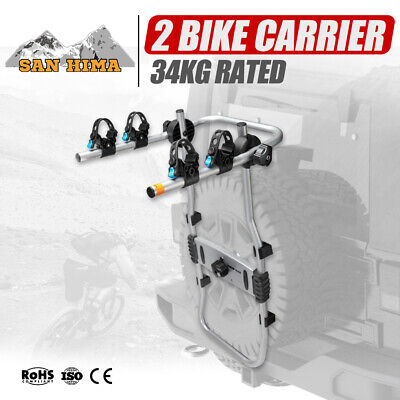 AU149.99 • Buy MOBI 2 Bike Carrier Rack For Spare Wheel Mount Bicycle Carrier Rear Car SUV 4x4
