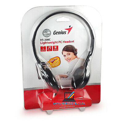 3.5mm Genius HS-200C HEADSET With MICROPHONE For Skype PC Computer Headphones • 7.99£