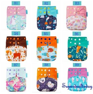 AU12.50 • Buy Happy Flute Baby Reusable Double Gusset One Size Cloth Nappy Diaper Cover