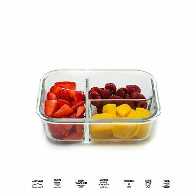 £15.49 • Buy Glass Storage Food Containers With Clip Lids Fridge Lunch Boxes Airtight