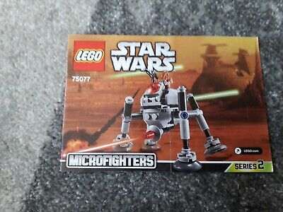 Lego Star Wars 75077 Homing Spider Droid Microfighters Instructions X 1 Only • 1.75£