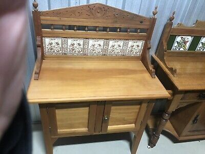 AU400 • Buy Antique Timber Wash Stand/Chamber Pot Cupboard