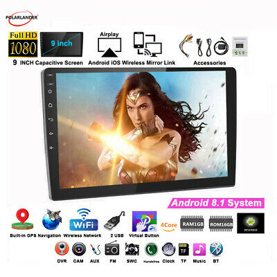 AU129.99 • Buy 9 Inch GPS WIFI FM BT Android System Mirror Link 2 Din Car Radio Stereo MP5