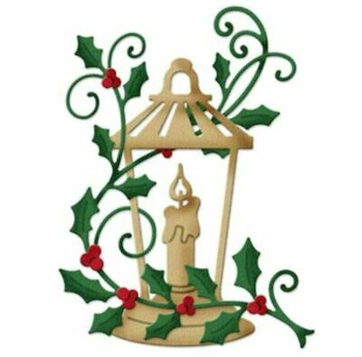 Christmas Holly & Candle Cutting Die Metal Die Cutter • 4.49£